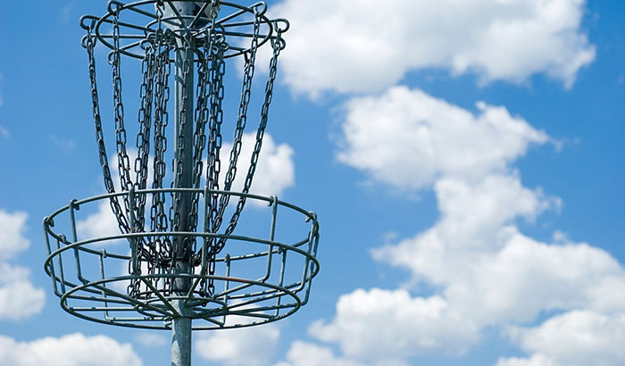 how to build a disc golf basket
